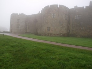 Chirk Castle viewed through the mist