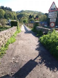 Old bridge over The Wye near Tintern