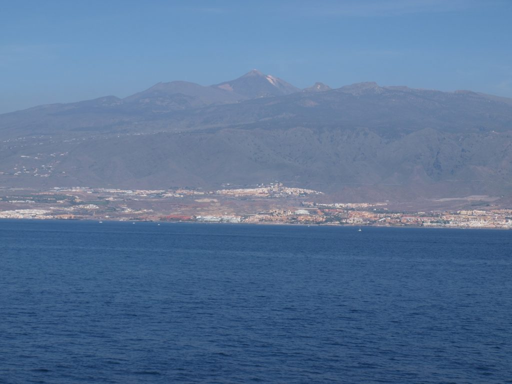 Good view of Mount Tiede from the ferry